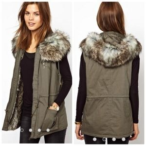 French Connection Freda Parka Hooded Gilet